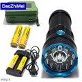 12*XML T6 25000 LED lumen waterproof flashlight,torch,lantern,camping light,lamp For Hunting Camping+18650 battery+charger+ box