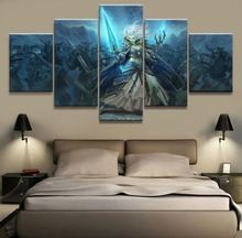 5 Piece Canvas Art DOTA 2 Game HD Print Painting Wall Modern Home Decor Picture Printed Poster