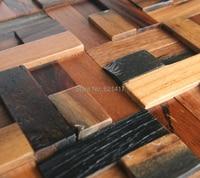natural ship wood 3d ancient old boat wooden mosaic tiles wall decoration materials HMWM1014 for backsplash kitchen wall