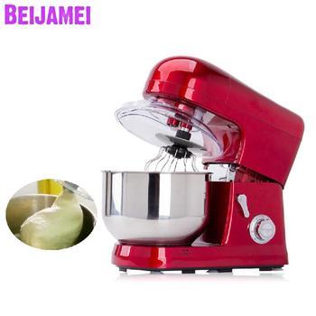 BEIJAMEI Электрический миксер для теста и хлеба, блендер для яиц, 110 В, 220 В, миксер для приготовления пищи и торта, машина для размешивания, электр...