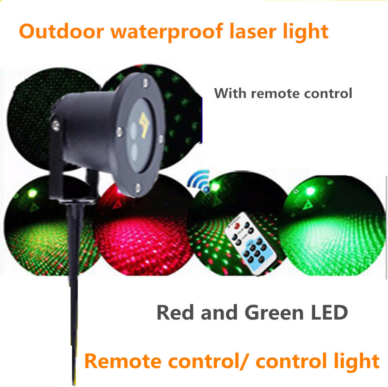 10PCS remote control Outdoor IP65 waterproof red green moving twinkle laser lights projector decorations for garden