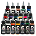 OPHIR Temporary Airbrush Common Ink 30ML/Bottle Acrylic Paints for Body Painting Tattoo Ink Pigment Black Color_TA053(1-13)