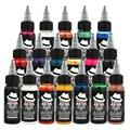 Ophir temporal del aerógrafo de tinta común 30 ml/botella pinturas acrílicas para pintura corporal tatuaje pigmento de la tinta negro color_ta053 (1-13)