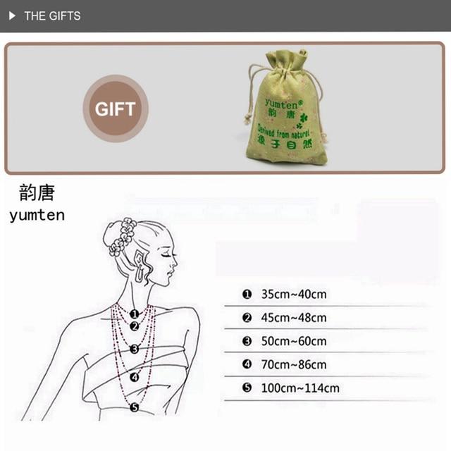Yumten Bead Chain Necklace Citrine Pendant Ethnic Women Fine Jewelry Wedding Bijoux Buddha Lucky Natural Crystal Accessories Men 5