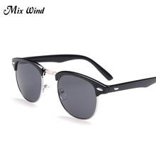 Mix Wind Sunglasses Retro Polarized Sunglasses Men Women Brand Designer Half Metal G15 Coating Club Sun Glasses Fashion Oculos