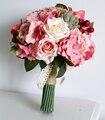 2017 Невесты Цветок bruidsboeket Свадебные Букеты Красочные Bridesmaids Букет Высокая Моделирования Свадебные Цветы Букет Mariage