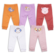 5pcs/lot Baby Pants Girl Clothes pantalones 100% cotton spodnie Newborn Summer Infant Trousers Kids Clothing