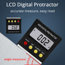 360Degree Mini Digital Protractor Inclinometer Electronic Level Box Magnetic Base Measuring Tools Angle Gauge Meter Angle Ruler стоимость