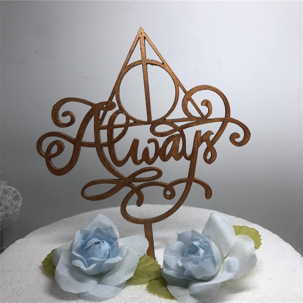 Harry Potter wedding cake topper Always cake topper Harry Potter cake decorations Love Cake Topper Always cake Wedding Sign
