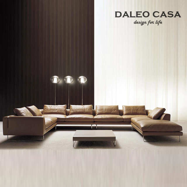Daryl Down Home Living Room Sofa Leather Corner Combination Of Scandinavian Design