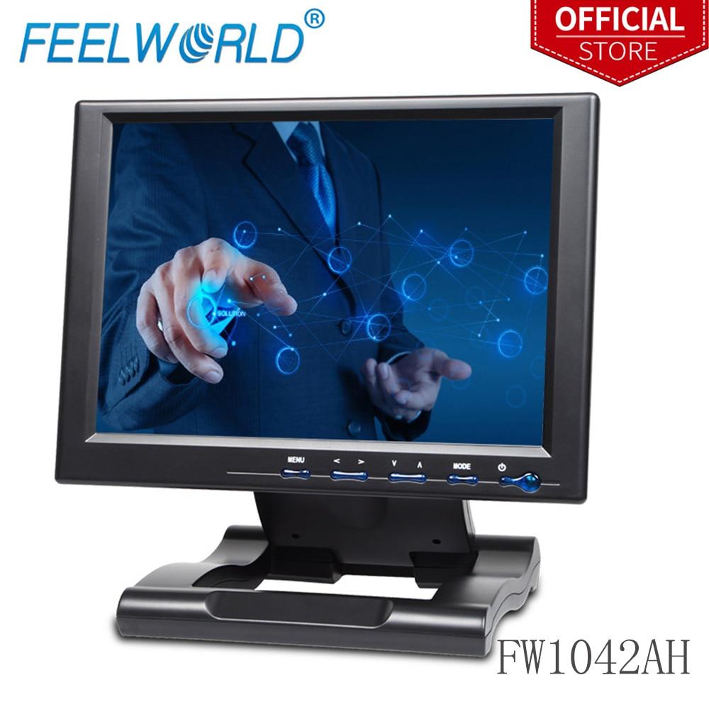 Feelworld FW1042AHT 10,4 дюймов 800x600 TFT lcd сенсорный монитор с HDMI VGA DVI YPbPr AV 10,4 сенсорный экран мониторы