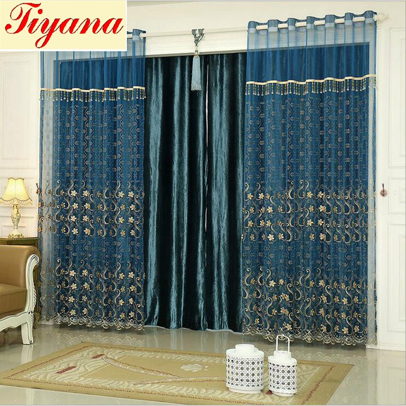 44 Blue Curtain Designs Living Room Sheer Curtain Ideas: White Pearl Sheer Curtains Blue Luxury Tulle Curtain For