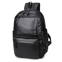 NEW Pretty Style Leather Men Black Backpack Fashion Famous Brand Male Casual Boys School Shoulder Bags