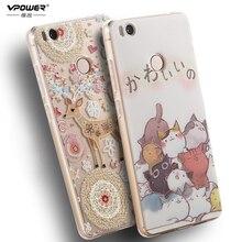 Vpower For Xiaomi Mi4S mI 4S Soft TPU Case Luxury 3D Relief Silicone Back Cover For Xiaomi Mi4s Mi 4s Phone Bag Cases