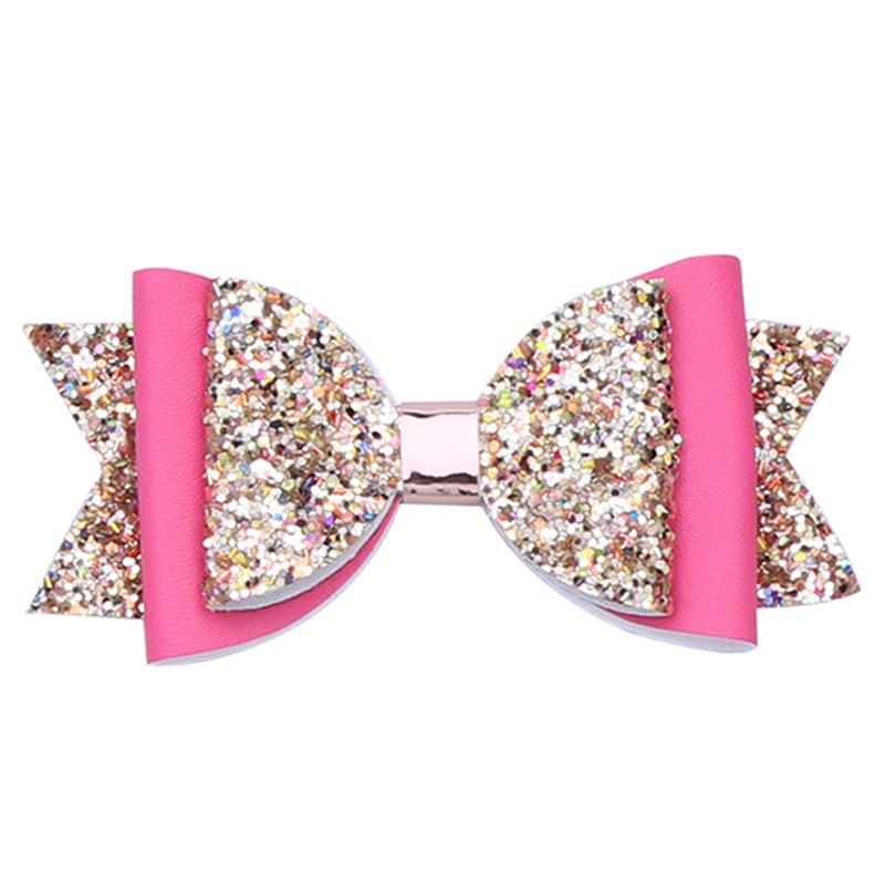 Double Layer Glitter Hair Bows Clips Bowknot Hairpins Princess   Headwear   Personalised Gift