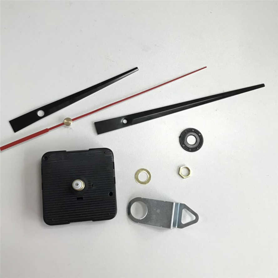 1 комплект бесшумные большие часы настенные кварцевые механизм движения резьба оси 28 мм черные руки ремонт инструмент запчасти комплект DIY набор с крюком