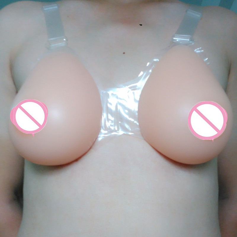 Sz FF 6000g Realistic Silicone Breast Forms With Bras False Breasts For Crossdresser Transsexual Size A ~ K Cup
