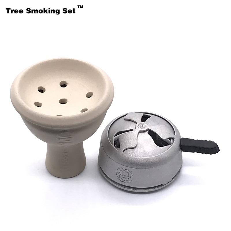 Ceramics Shisha Bowl Chicha Narguile Nargile Smoking Pipe Shisha Accessories Cachimba Sheesha For Kaloud Drop Shipping TWAN0396 in Shisha Pipes Accessories from Home Garden