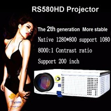 Newest Upgrade LED projector HD Support 1920×1080 Home theater projectors 3D Proyector TV video Multiple interfaces