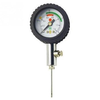 Ball Barometer Pressure Gauge Pointer Football Basketball Volleyball Pressure Gauge te2000 0 60pa micro differential pressure meter gauge high neutral panel round type pointer instrument micromanometer