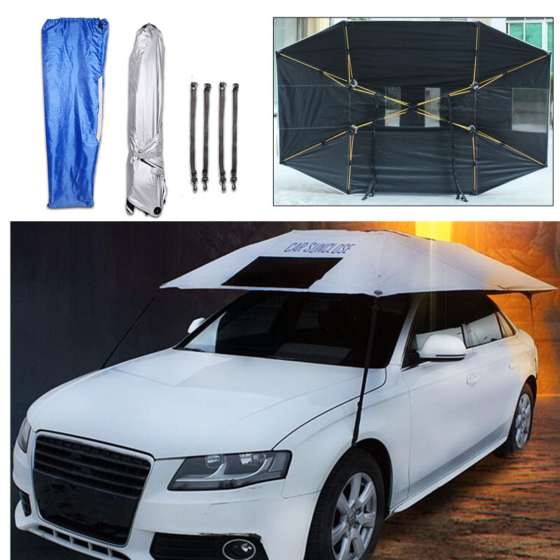 320x220cm Automatic Car Umbrella Sunshade Tent Roof Cover Anti-UV Hot Protection Outdoor Protector Sun Shade Summer