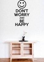 心配しないと幸せになる引用レターファンタスティックテキスト壁アートデカールステッカーホームワード装飾取り外し可能なdiyの壁ステッカ