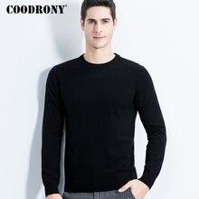 Свитер COODRONY мужской из мериносовой шерсти, Классический Повседневный пуловер с круглым вырезом, мужские зимние толстые теплые кашемировые свитера, модель 315