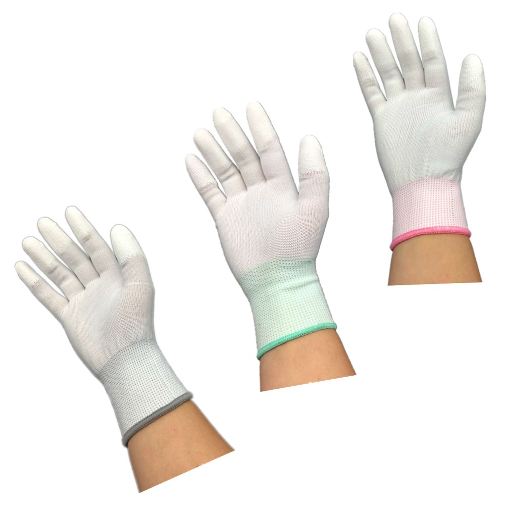 Image 4 - DEWbest gloves new store factory direct work gloves PU material safety protection gloves 12pairs / lot European standard 001-in Safety Gloves from Security & Protection