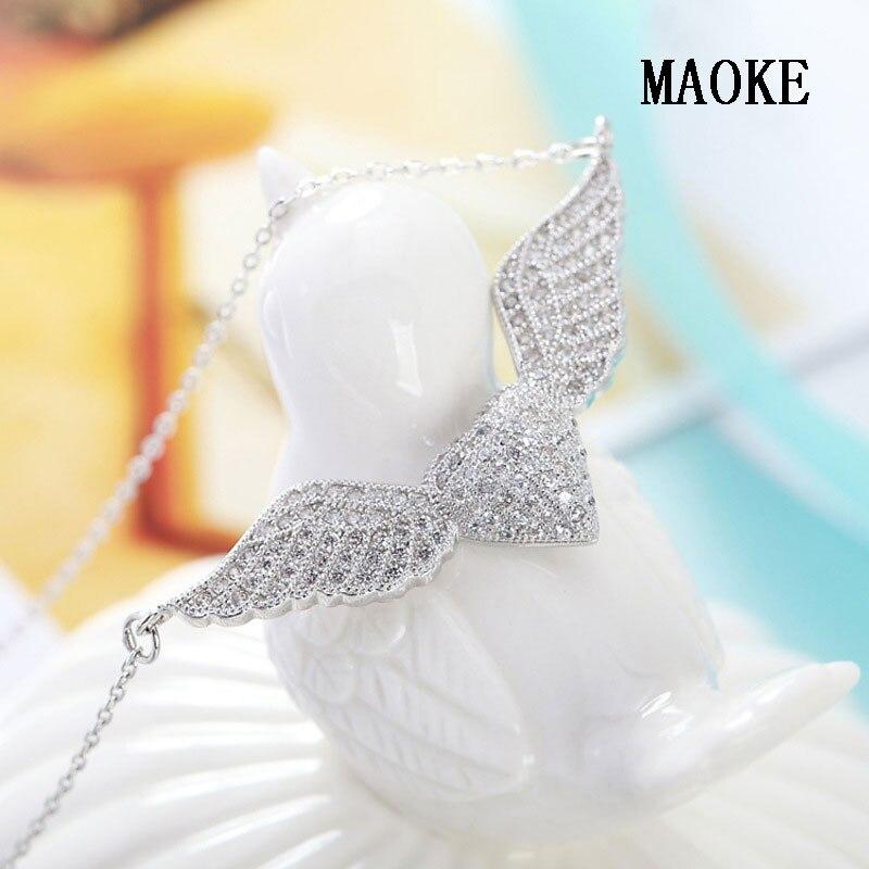 Collier en argent Sterling S925 promotionnel mode pendentif coeur aile d'ange bijoux de mode pour les cadeaux de mode des femmes