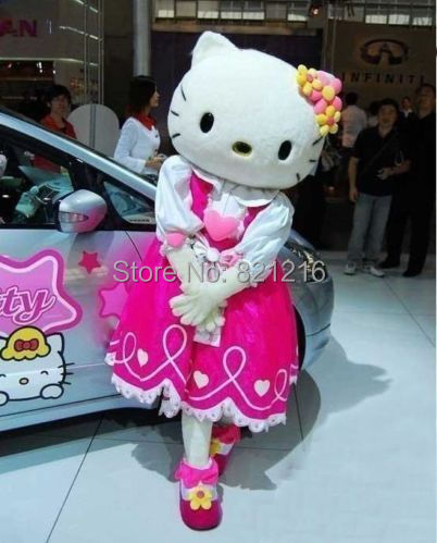 Hello kitty Costumes Hello kitty Mascot Costume Hello Kitty Fancy Costume Kitty Cosplay Camival Costume Free Shipping