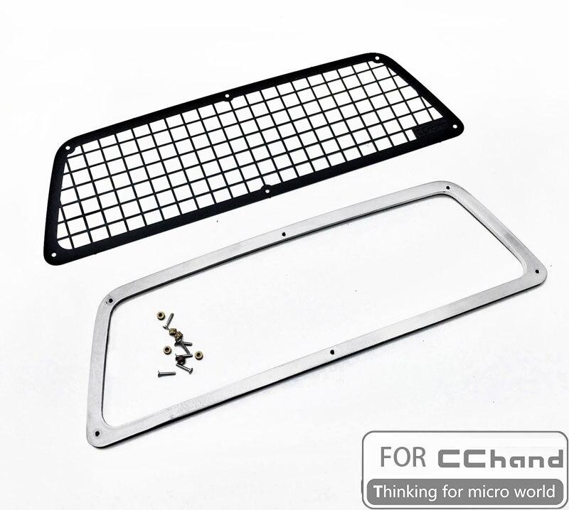 metal grid Rear Window RC car parts toys for CChand Tamiya 1/10 Hilux Hynix. Boar RC4WD TF2(China)