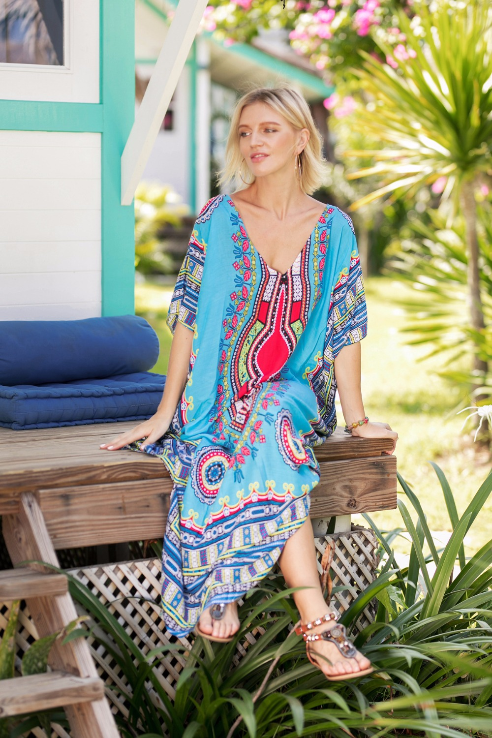 Plus Size Dresses for Women Summer Ethnic Dashiki Dress Robe Traditional  African Clothing Long Maxi Tunic Dress aaf937cb0668
