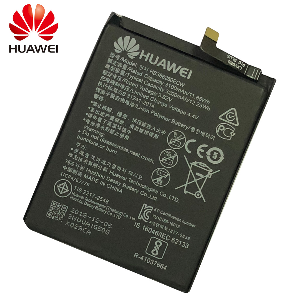 HuaWei Phone Battery HB386280ECW For Huawei honor 9 P10 Ascend P10 Replacement Phone Batteries 3200mAh in Mobile Phone Batteries from Cellphones Telecommunications