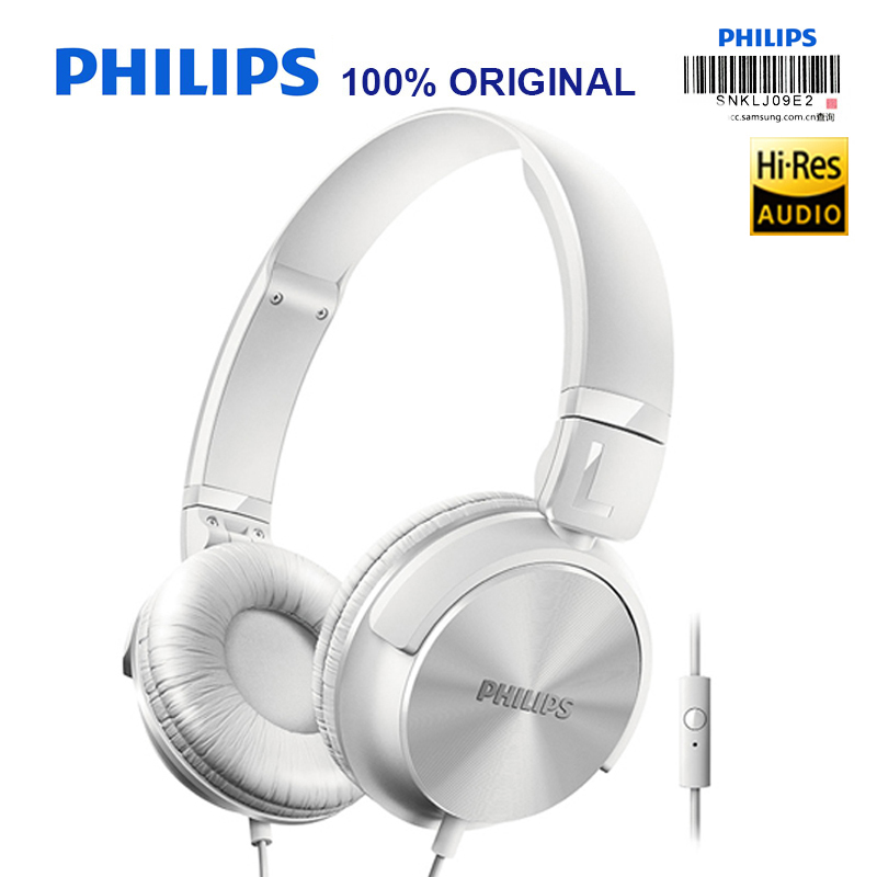 Philips SHL3065 Wired Headphone with Microphone Noise Reduction Wire Control Headband Design for Xiaomi Huawei Official