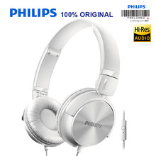 Philips SHL3065 Wired Headphone with Microphone Noise Reduction Wire Control Headband Design for Xiaomi Huawei Official Test(China)