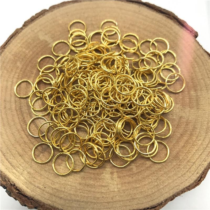 4/6/8/10 мм 500/300/200/100 шт Металлические разомкнутые кольца для прыжков Разделение кольца Разъемы для самостоятельного изготовления ювелирных изделий - Цвет: Golden