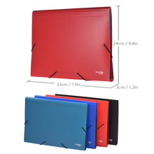A4/Legal/Letter Size 13-Pocket Poly Expanding File Folder Organizer for Contract Tax Documents Bill Brief Report Test Paper