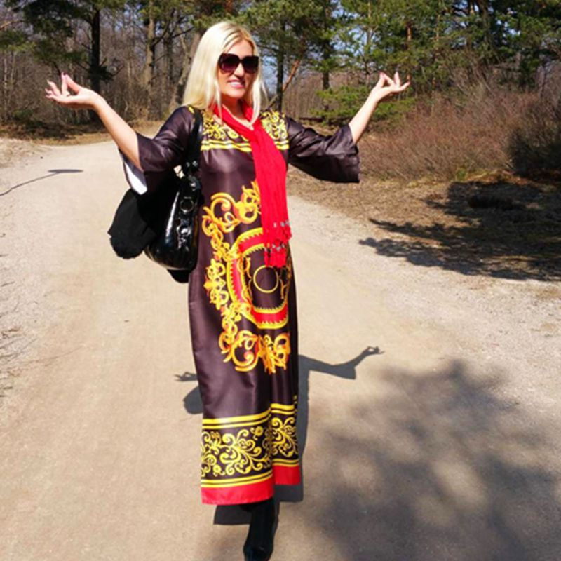 H & D 2018 длинное платье длинный халат африканская одежда dahiki 100% хлопок Базен большой упругой печати известный африканские платья для женщин