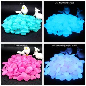 Image 5 - Pokich 100pcs Luminous Artificial Pebbles Glow In Dark Walkways Garden Fluorescent Artificial Stone for Aquarium Decoration