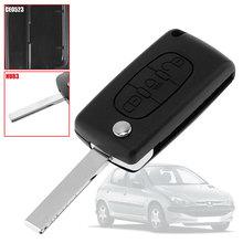 OcioDual CE0523 HU83 Light 3 кнопки чехол для выкидного ключа чехол для Peugeot 206 207 306 307 308 407 607 806 Citroen C2 C3 C4 C5 C6 C8