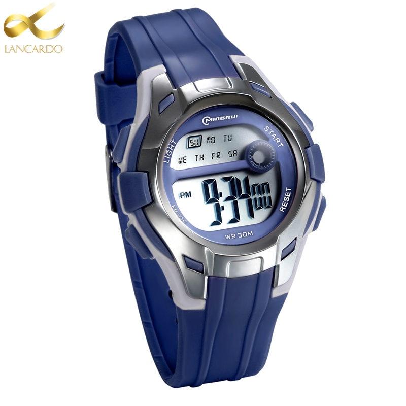 Lancardo Children LED Digital Watch Relogio Feminino Sports Watches Kids Jelly Relojes Mujer 2020 Student Wristwatches