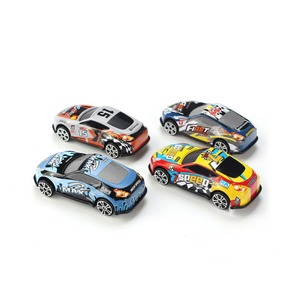 Image 3 - Conjunto de 6 unidades de Mini coche de dibujos animados, molde de juguete para coches de aleación, vehículos fundidos a presión para niños, juguetes de bolsillo, regalo para guardería