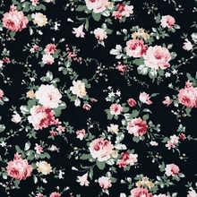 Chegam novas Preto subiu 100% Algodão Costura Flores de Tecido Tissus Au Metro DIY Scrapbooking Tissus Material de Patchwork