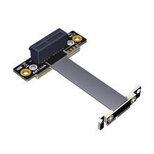 Pcie 3.0x1 para x1 cabo de extensão R11SL-TL duplo 90 graus ângulo direito R11SL-TL 8g/bps pci express 1x riser cartão fita extensor
