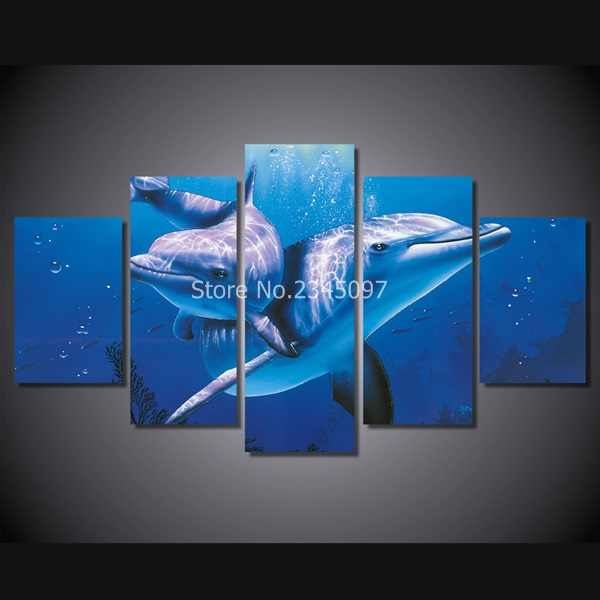Impresión HD Animal delfin pintura lienzo impresión habitación decoración poster imagen lienzo envío gratis