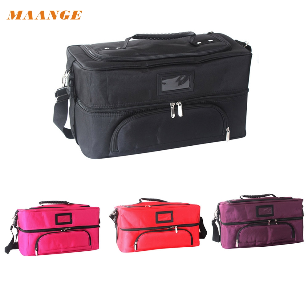 2017 Hot  Large Multi-function Portable Professional Makeup Beauty Cosmetic Case  Mar26