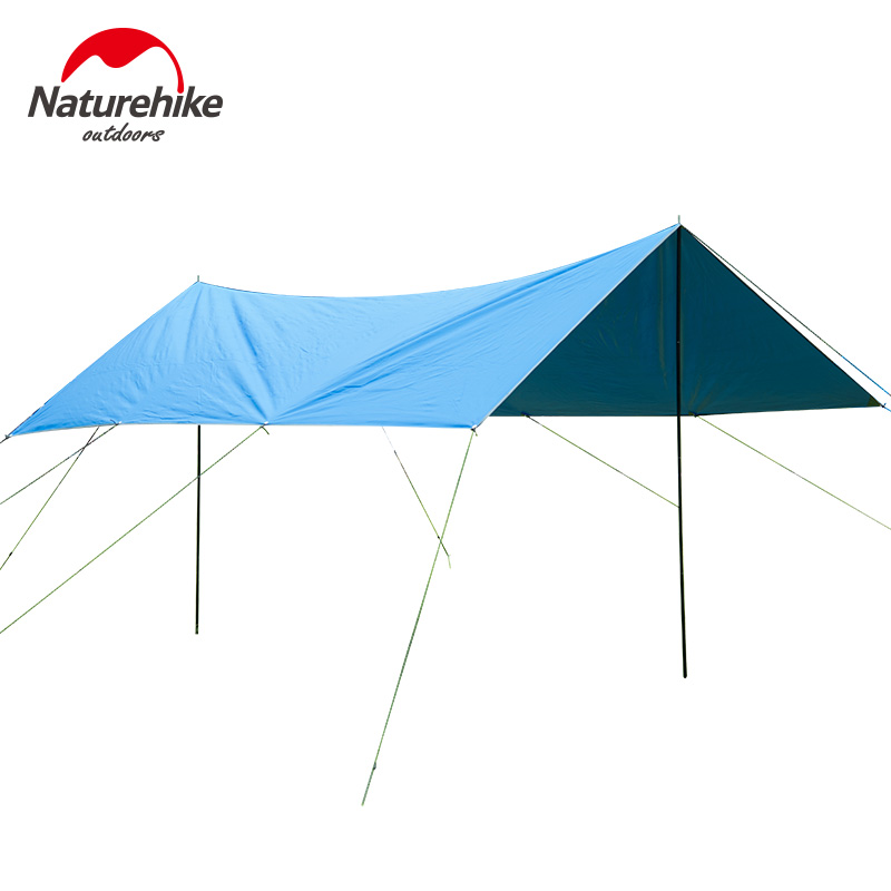 ФОТО Large Sun Shelter Light 240D Oxford Cloth Camping Outdoor Rainproof Sunshade Anti-UV Awning for Tents Car Cover Fishing Cover