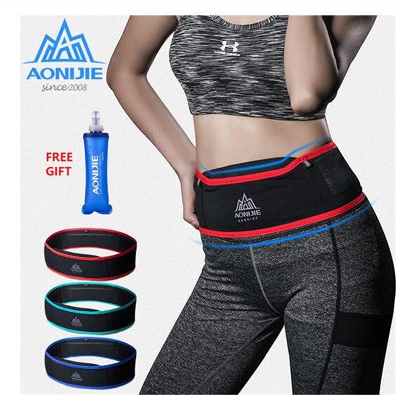 AONIJIE Running Belt Sport Bag Water Resistant Waist Pack Outdoor Jogging Marathon Trail Racing Training For Men Women