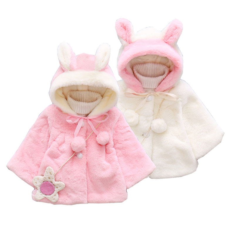 Newborn Infant Kid Baby Girl Rabbit Hooded Coat Jacket Hoodies Winter Outwear UK