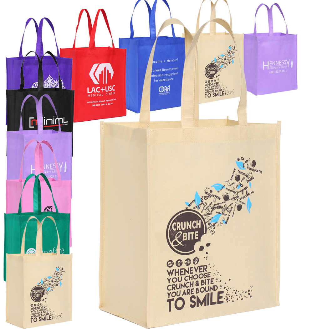 cheap wholesale 100pcs free custom reusable shopping bag logo 35h